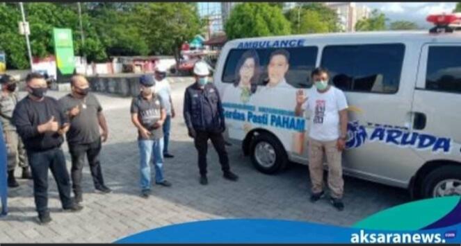 All Out Dukung Paula - Harley, Tim Garuda One Serahkan Dua Unit Ambulance Berslogan PAHAM
