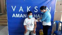 Wartawan liputan Boltim ikut vaksinasi Covid-19