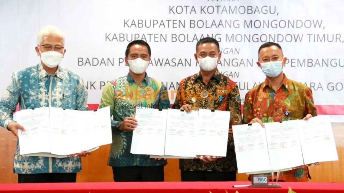 Pemanfaatan aplikasi KasDa online, Pemerintah Boltim MoU dengan PT Bank Sulutgo dan BPKP